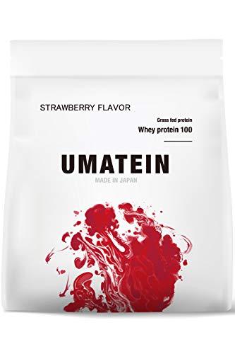 【ウマい プロテイン】 ウマテイン プロテイン ホエイプロテイン ストロベリー味 1kg 国産 グラスフェッド 11種類のビタミン配合