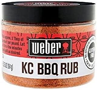 Weber KC BBQ Rub (Pack of 2) 5.75 oz Jar