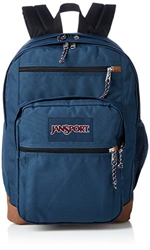 JanSport Cool Student 15-inch Laptop Backpack - Classic School Bag, Navy