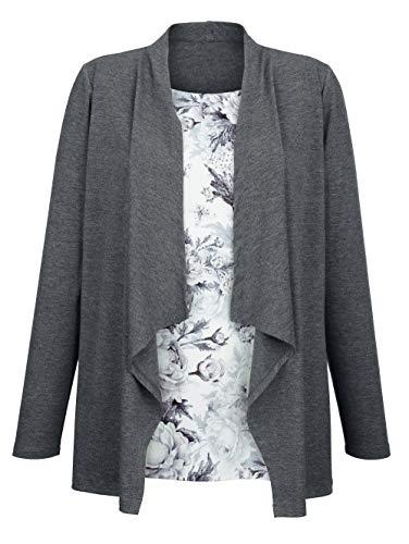Jessica Graaf Damen 2-in-1 Shirt Anthrazit 46 Viskose