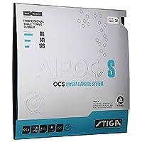 STIGA(スティガ) 卓球 ラバー テンション系裏ソフト エアロック S レッド 厚 1703-0405-19