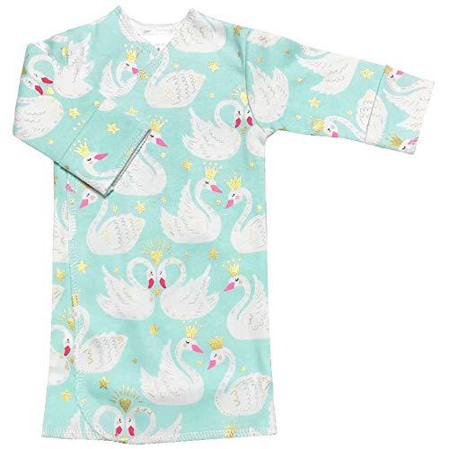 【未熟児】【低出生体重児】【早産児】【NICU】用 ベビー服:長袖長肌着 スワン (1400-2500g)