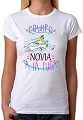 Camiseta Equipo Novia a la Fuga Camiseta para Despedidas de Soltera