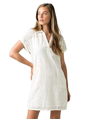 prAna Womens Ladyland Dress, Soft White, Medium