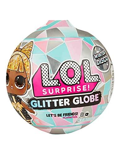 L.O.L. Surprise! Bambola Glitter Globe, serie Winter Disco, con capelli glitterati