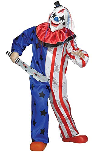 Fun World Evil Clown Costume, Multicolor, Medium 8-10