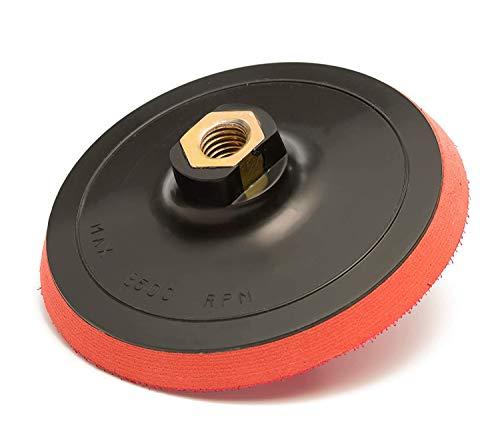 15,24 cm Velcro para lijadora (150 mm), EVA capa 10 mm, rosca M 14 x 2, esponja de lija, almohadilla para pulido, Velcro con base