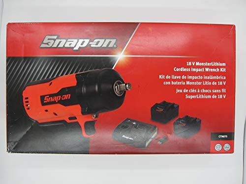 Snap-on CT9075 18v MonsterLithium Cordless Impact Wrench Kit With 2 Batteries & a Double Charger