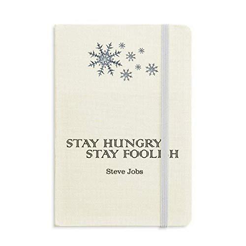Citação do caderno Steve Jobs grosso flocos de neve inverno