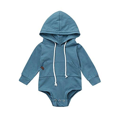 Mono Bebe, Dragon868 Bebé recién Nacido con Capucha Mameluco Ropa (6M, Azul)