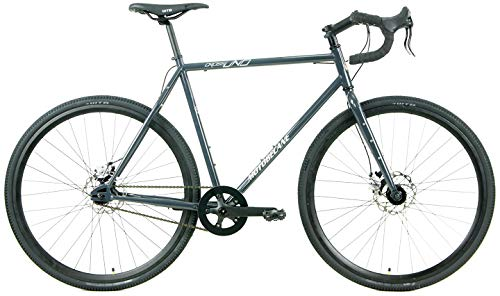 Motobecane Fantom Cross Uno Pro Single Speed 4130 Cromoly Steel Cyclocross Bike (Charcoal, 49cm - fits Most 5'2' to 5'5')