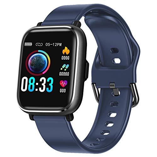 RaMokey Smartwatch, Reloj Inteligente para Deporte Mujer Hombre Impermeable IP67 con Pulsómetro, Cronómetros, Calorías, Monitor de Sueño, GPS Reloj Podómetro Pulsera Compatible para Android e iOS