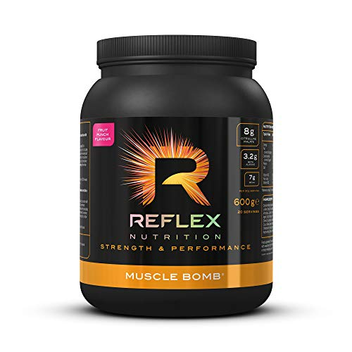 Reflex Nutrition Muscle Bomb Caffeine Ultimate PRE-Workout Powder 7g BCAA's 2g L-Carnitine 3.2g Beta-Alanine (600g) (Fruit Punch)