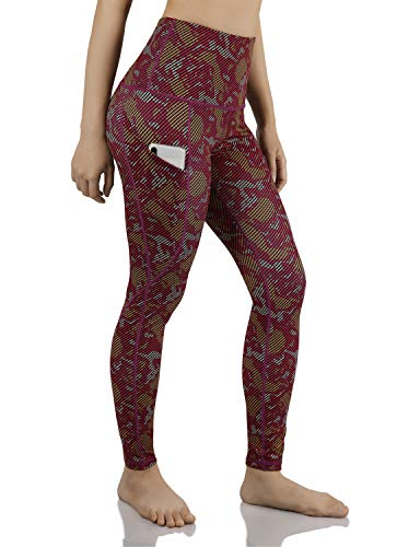 ODODODOS Women's High Waisted Pattern Leggings, Tummy Control, Workout Yoga Pants with Out Pockets,Camouflage,X-Small