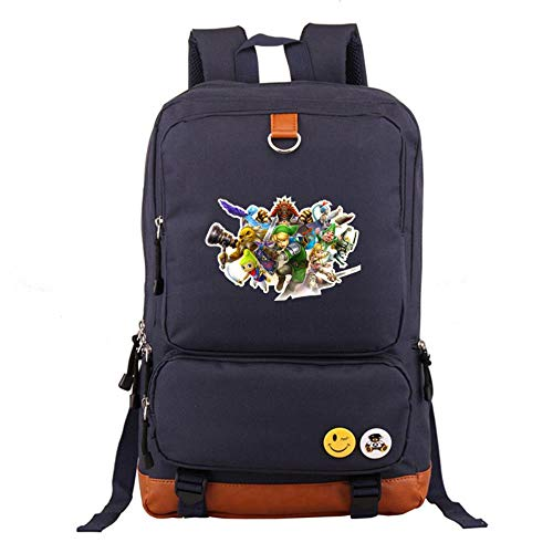 Jjzz Girls Boys Students Teenager With The Legend Of Zelda Game Print Anime School Bag Travel Backpack Oxford Fabric Laptop Bag, 6 (Multicolour) - 3246-7482