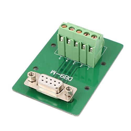 New Lon0167 DB9 Placa de adaptador hembra de 9 pines RS232 Serie a Terminal Terminal Módulo(DB9 9-Pin-Adapterplatte RS232-Signalmodul mit Klemme