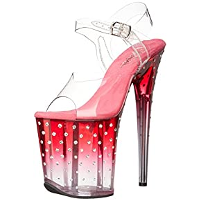 Pleaser Women's STDUS808T/C/PNK-C Platform dress Sandal