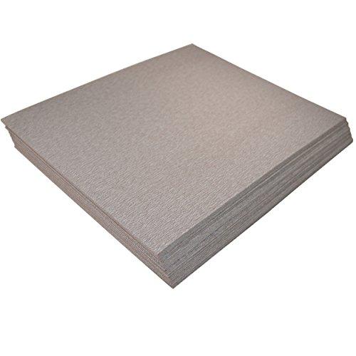 "HQRP 9"" x 11"" Aluminum Oxide Sandpaper compatible with Black & Decker BDEQS15C BDEQS300 FS540R FS540 QS900 FS500 1/4 Sheet Sander, 220 Grit, 50 Pack"