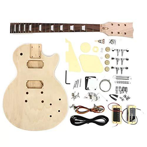Akustisch Unfinished Gitarre Kit E-Gitarre DIY Massivholz mit Körper-Ansatz String Tunning Pegs