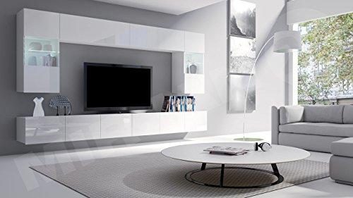 Wohnwand – Moderne  Calabrini I Anbauwand Mediawand kaufen  Bild 1*
