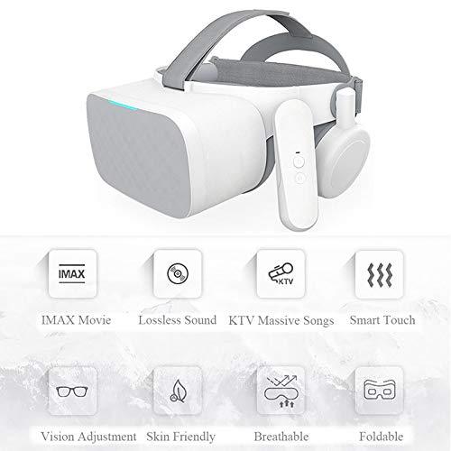 Lunette 3D VR Casque De Réalité 5.5 Pouces WiFi Pliable Virtuelle Films Et Jeux Compatibles Smartphones avec Poignée