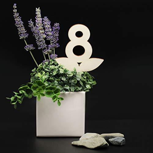 3DP Signs - Set Numeri Tavoli da Vaso in Legno [VN01] - Segnatavolo Design per ristoranti e Bar. Segnaposti Matrimoni ed Eventi. (Set 1-20)