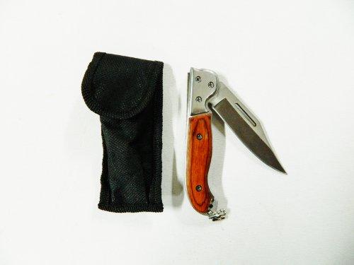 petit Couteau pliant 16,5cm de camping randonnée chasse pêche + étui ceinture