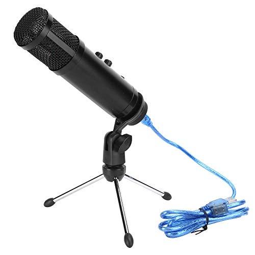 Kit de micrófono mini USB Micrófono capacitivo con conector para auriculares Micrófono cardioide portátil Adecuado para transmisión en vivo, grabación de voz y conferencias