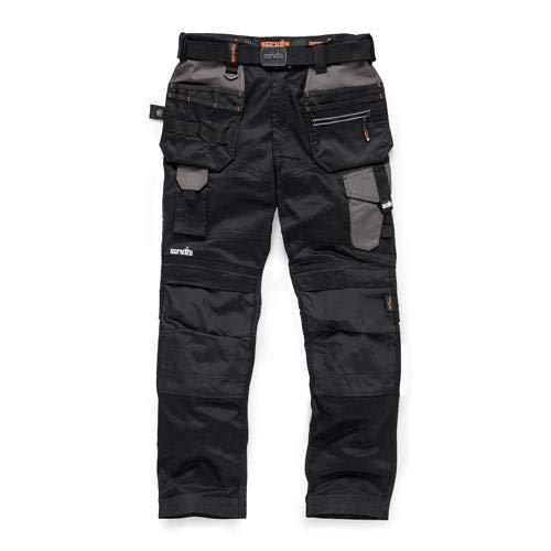 Scruffs Men's Pro Flex Holster Workwear Trousers, Black (Black 001), W34/L32