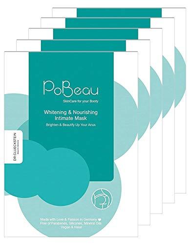 Pobeau Intensiv Kur, Intimmasken für dunkle Stellen an der Haut: Aufhellung und Hydratisierung des Analbereichs. Schonender Anus-Bleaching-Effekt. Geeignet auch für Achselhöhlen, uvm, 5 x 12ml