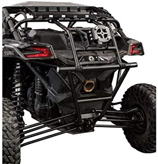Tusk Heavy Duty UTV Rear Bumper, Cargo Rack, and Spare Tire Carrier - Can-Am Maverick X3 900 Max X RS DS Turbo 2017-2019- Includes lug nuts