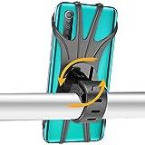 Epilum Soporte Movil Bicicleta, Universal Rotación 360° Soporte Manillar de Silicona Soporte Movil para Bicicleta Motocicleta Ciclismo GPS Nacigatore para iPhone 11 8 Plus X XS MAX XR Samsung