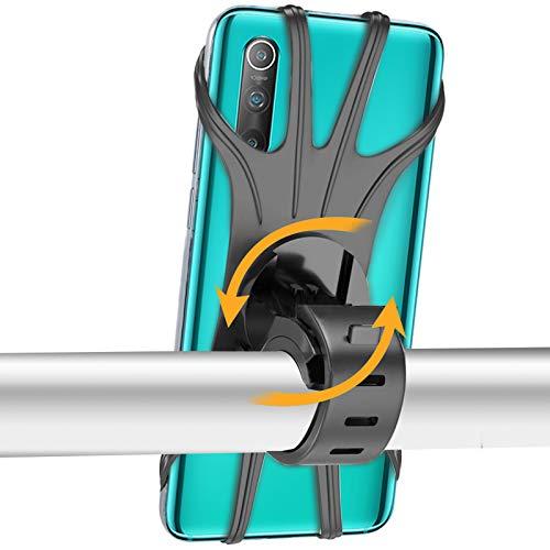 Epilum Supporto Bici Smartphone, Porta Cellulare Bici Supporto 360° Rotabile Universale Telefono per Bici Moto Bicicletta Ciclismo GPS Nacigatore per iPhone 11 X XS Max XR 8 Plus, Samsung S8 S9+