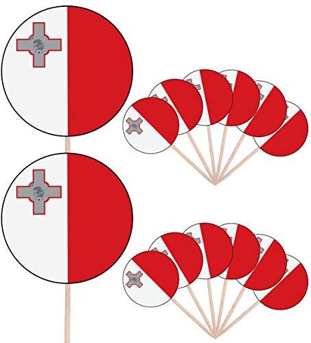 Malta Vlag Partij Voedsel Cake Cupcakes Picks Sticks Vlaggen Opstaan Decoraties Toppers (Pak van 14)