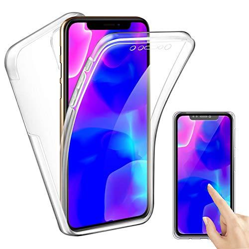 Reshias Funda para iPhone 11, Transparente TPU Silicona con PC 2 en 1 360°Full Body Anti Arañazos Protectora Carcasa Case Cover para iPhone 11 (6.1')
