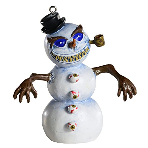 Killer Snowman Horror Ornament - Scary Prop and Decoration for Halloween, Christmas, Parties and Events - Jaed Demers Series - By HorrorNaments