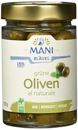 MANI Grüne Oliven al naturale, bio, 2er Pack (2 x 205 g)