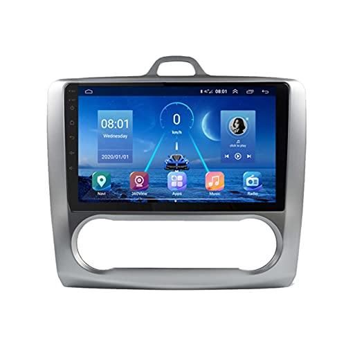 GOHHK Radio De Automóvil para Ford Focus 2 MK2 MK3 2004-2011 con Carplay DSP HD 360 para La Cámara De Sony Player Multimedia GPS Navigation 2 DIN(Size:A,Color:WiFi:2GB+32GB)