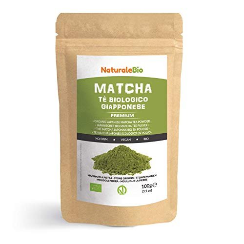 Japanese Organic Matcha Green Tea Powder [ Premium Grade ] 100g. Tea Produced in Japan, Uji, Kyoto. Use for Drinking, Cooking, Baking, Smoothie Making and with Milk. Vegan & Vegetarian Friendly