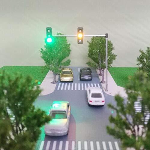 ExcLent 5V Straßenlaterne Ampel Modell Ho Oo Maßstab Blinker Led Modellbahn Architektur Straße