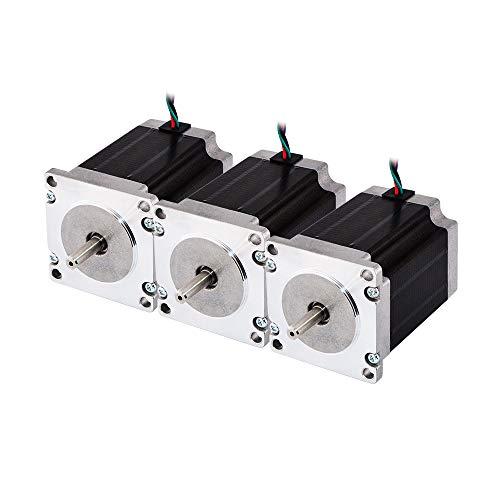 Edredón Eron Line 3piezas NEMA 23Motor Paso bipolar 1.8deg 1.9Nm (269oz. en) 2.8A 3.2V 57x 57x 76mm 4hebras para impresoras 3d/DIY CNC