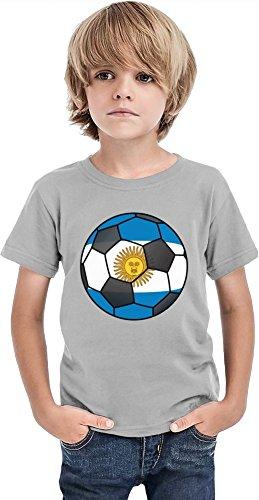 Camiseta Argentina Fútbol Niños, gris, 6-7 Años