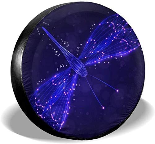 MODORSAN Dragonfly Purple Lights - Cubierta de neumático de Rueda de Repuesto, poliéster, Cubiertas de Rueda universales para Jeep, Remolque, RV, SUV, camión, Accesorios, 17 Pulgadas