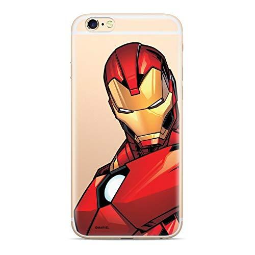 Finoo Custodia compatibile con iPhone 7/8 – Marvel Custodia protettiva con motivo e protezione ottimale in silicone TPU – Iron Man V3