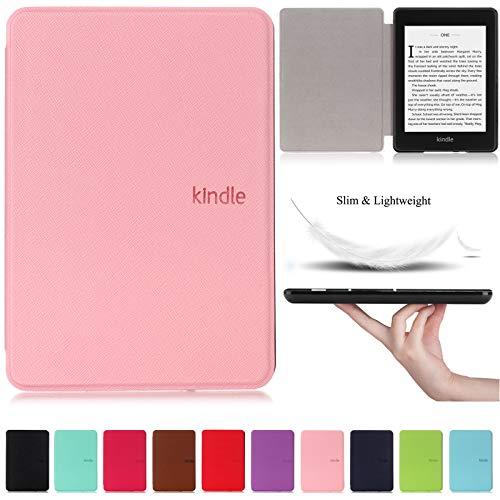 Capa + Pelicula para Novo Kindle Paperwhite (Apenas Versão à prova d'água) Função Hibernação (Rosa)