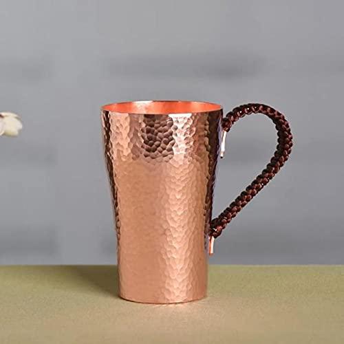 UKKO Taza de cerveza de cobre puro taza de café artesanal tazas de vino vajilla martillado, 400 ml