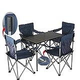 Juego de silla plegable de picnic para camping, senderismo, muebles de comedor, marco de aluminio con maleta para barbacoas,