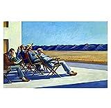 pujiaoshang People in The Sun de Edward Hopper.Life Art Classic FilmRegalo Ideal para decoración del hogar Póster Artístico Impreso en lienzo-60x90cm Sin Marco