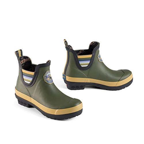 Pendleton Women's Heritage National Park Chelsea Ankle Length Slip-Resistant Rain Boot, Rocky Mountain Olive, Size 6