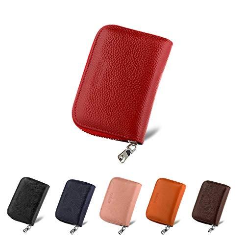 KUPEERS 本革 クレジットカードケース RFID カード入れ スキミング防止 ミニ財布 軽量 じゃばら 大容量 コインケース 男女兼用